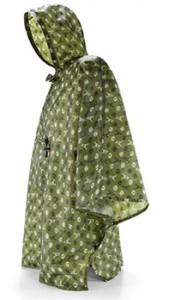 Regnponcho grönmönster