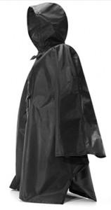 Regnponcho svart